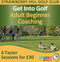 4 golf lessons for only £30 at Strawberry Hill GC